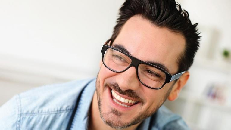 Man with glasses smiling | Mount Waverley Dentist
