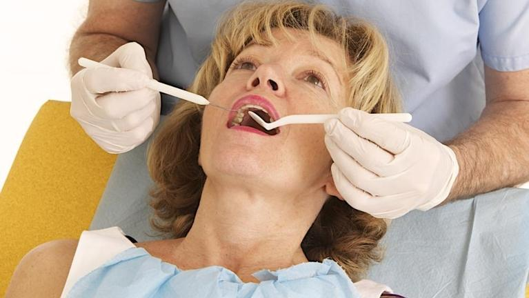 Woman at dentist in Mount Waverley
