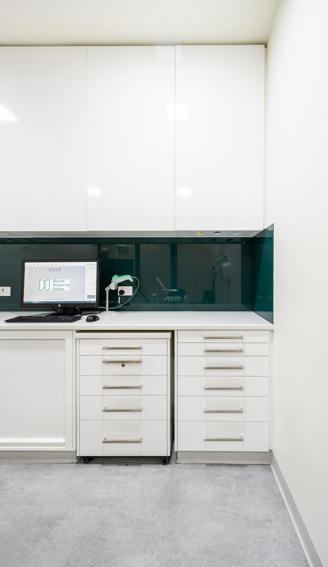 Drawers and computer in dental clinic | Mount Waverley VIC Dentist